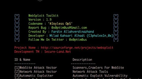 WebSploit Toolkit V.1.9