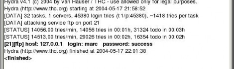 THC-Hydra 8.1-pre Released : A very fast network logon cracker which support many different services.