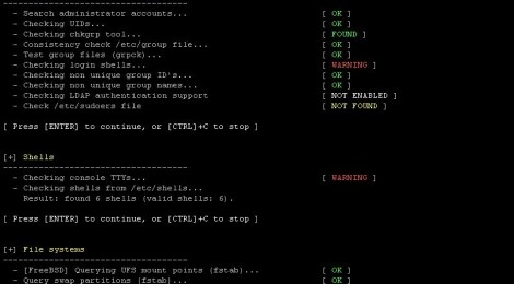 Updates Lynis v-2.1.0 : is a system and security auditing tool for Unix/Linux.