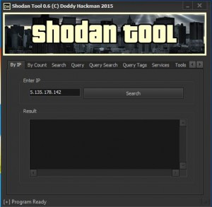 Simple tool to search in Shodan