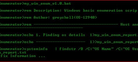 Enumerator : Post exploitation information extractor for privilege escalation.