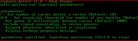 handle_monitor - Identifying and Disrupting Crypto-Ransomware (and Destructive Malware) using handle heurustics.