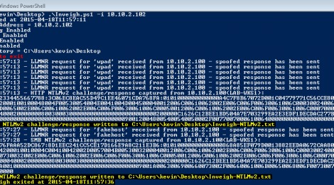 Updates Inveigh is a Windows PowerShell LLMNR/NBNS spoofer with challenge/response capture over HTTP/SMB.