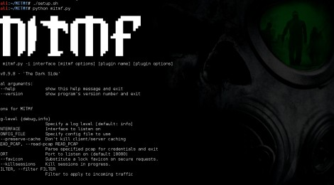 Updates MITMf v-0.9.8 : 'The Dark Side'.