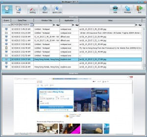 Kelogger24 – is a fully functional application for recording keystrokes. It records information from all applications including browsers, office programs, IM, Skype, etc.