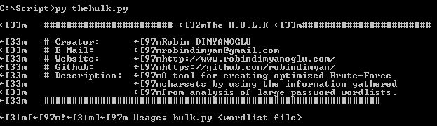 The Hulk is A tool for creating optimized Brute-Force  – Security