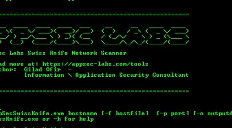 AppSecSwissKnife - Open-Source network scanning tool for internal and external infrastracture vulnerability scanning.