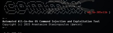 Updates Commix v0.1b-385e11b : Automatic All-in-One OS Command Injection and Exploitation Tool.