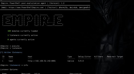 Updates Empire v-1.2(9/12/2015) :  PowerShell post-exploitation agent.