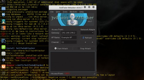 3vilTwinAttacker v0.6.7 released - Framework for Rogue Wi-Fi Access Point Attack.