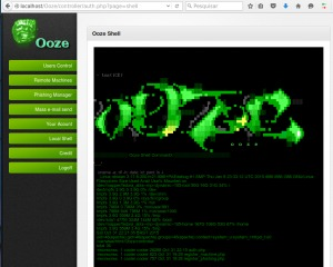 Ooze is a manager of Botnet and Phishing, have a simple web shell and simple Auth and ACL.