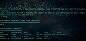 BackdoorMe a powerful auto-backdooring utility. This Backdoor has Been Tested on Kali Linux 2.0 and Ubuntu 14.04