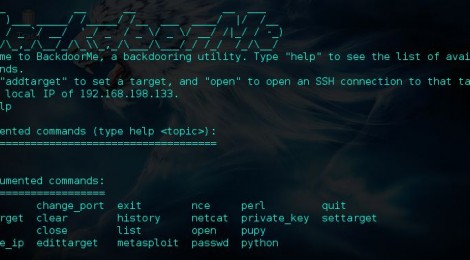Updates BackdoorMe - a powerful auto-backdooring utility.