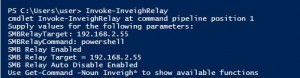 Invoke-InveighRelay is the main Inveigh SMB relay function.