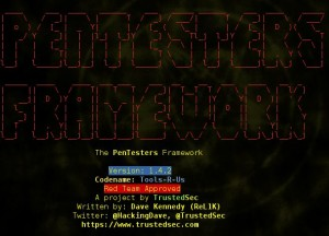 The PenTesters Framework (PTF) is a Python script designed for Debian/Ubuntu/ArchLinux based distributions to create a similar and familiar distribution for Penetration Testing.