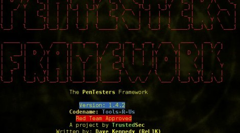 The Penetration Testers Framework (PTF) v1.4.2 codename Tools-R-Us released.