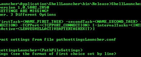 ShellLauncher is a Application for launching two different process in two shell configurable.