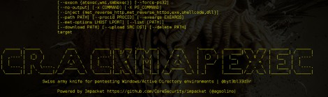 CrackMapExec v-2.0 codename; 'I gotta change the name of this thing' released.