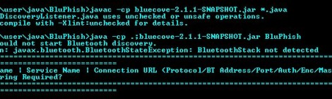 BluPhish - Bluetooth device and service discovery tool that can be used for security assessment and penetration testing.