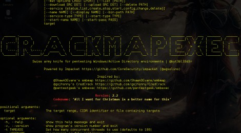 CrackMapExec v2.2 codename 'All I Want for Christmas is a bettername for this' released.