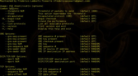 T50 v-5.5 released : The fatest network packet injector.