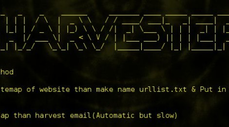Eharvester is simple script which extracts email address from the given domain for penetration testing process.