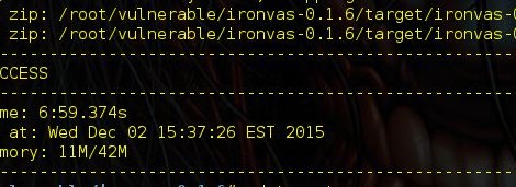 Ironvas v-0.1.6 is a highly experimental integration of Open Vulnerability Assessment System (OpenVAS).
