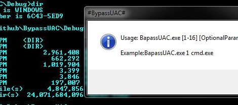BypassUAC is a Defeating Windows User Account Control by abusing built-in Windows AutoElevate backdoor.