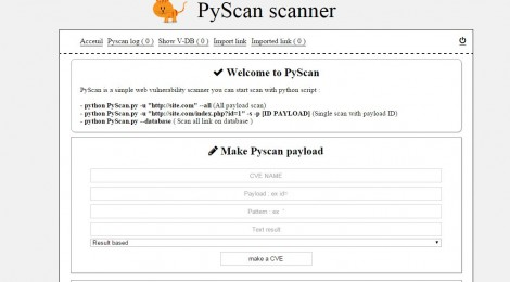 PyScan-Scanner ~ Vulnerability scanner with custom payload.