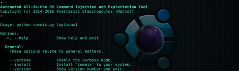 Commix v0.4b - Automatic All-in-One OS Command Injection and Exploitation Tool.