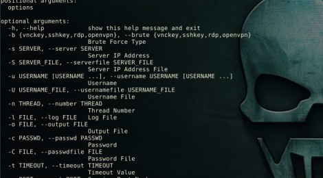 Crowbar v3.4 is a brute force tool which is support openvpn, rdp, sshkey, vnckey.