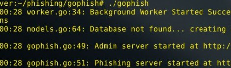 gophish v0.1 alpha - Open Source Phishing Toolkit.