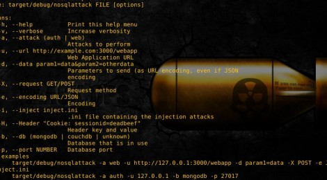 nosqlattack - Automate some attacks against NoSQL-backed web applications.