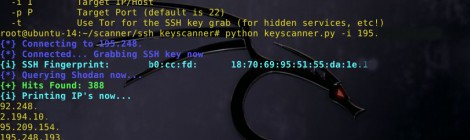 ssh keyscanner - search shodan for a given ssh hostkey fingerprint.