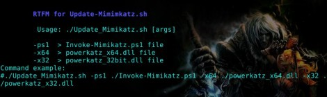 Bash script for update Mimikatz and to take the powerkatz.dll files.