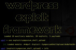 wordpress exploit framework