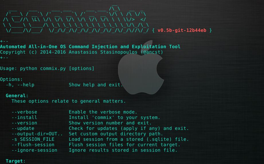Commix v0 5b – Automatic All-in-One OS Command Injection and
