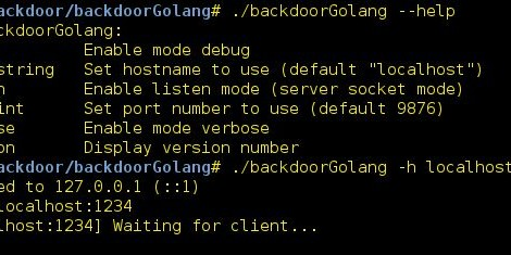 backdoorGolang is a Backdoor with Golang (Cross-Platform).