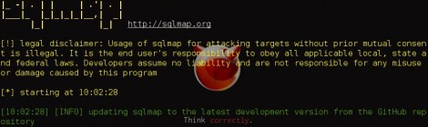 sqlmap v1.0.4 - Automatic SQL injection and database takeover tool.