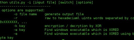 Utilities for finding Windows executable in XORED data using key or brute-force method.