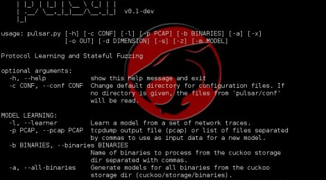 Pulsar v0.1-dev ~ Stateful Black-Box Fuzzing of Proprietary Network Protocols.