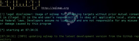 sqlmap v1.0.5 - Automatic SQL injection and database takeover tool.