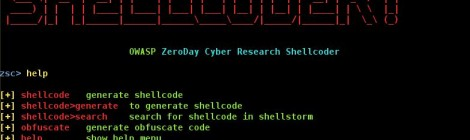OWASP ZSC v1.0.9-git ~ Shellcode/Obfuscate Code Generator.