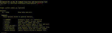 Commix v1.0 - Automatic All-in-One OS Command Injection and Exploitation Tool.