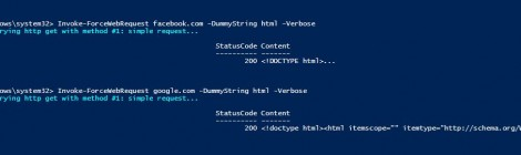 PowerShell force HTTP GET in a computer with internet config & phishing the user for a valid proxy credentials.