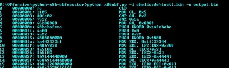 Binary x86 shellcode obfuscator and generator.