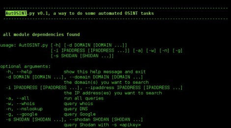 AutOSINT - Tool to automate common osint tasks.